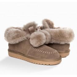 POMPOM包子鞋 精选牛绒鞋面 OB403