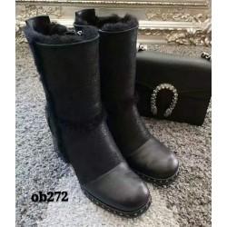 时尚短靴 粗高跟 防泼水 OB272 OZWEAR