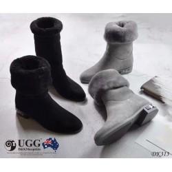 DK313 丝光牛反皮 防泼水中筒靴 DKUGG