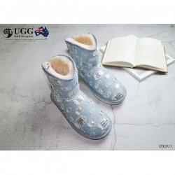 DK015 水磨牛仔布雪地靴 DK UGG