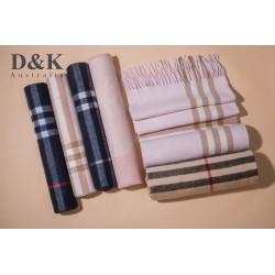 DK 羊毛羊绒围巾 180cm-40cm  纯色格纹...