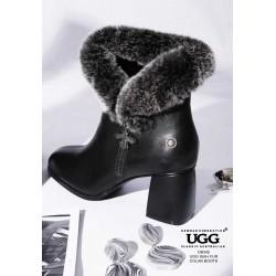 女士时尚雪地靴 羊皮鞋面 羊毛内里 OB345 OZWEAR